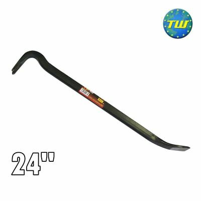 "24"" Steel Board Lifting Swan Neck Strong Arm Tool Builders Crow Bar Wrecking DIY"