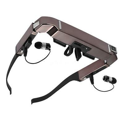 """VISION-800 80"""" Smart Android WiFi 3D Video Glasses 5MP HD Camera Bluetooth N9Y6"""