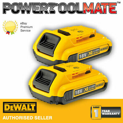Genuine Dewalt DCB183 18v 2.0ah battery li-ion XR - *TWIN PACK*