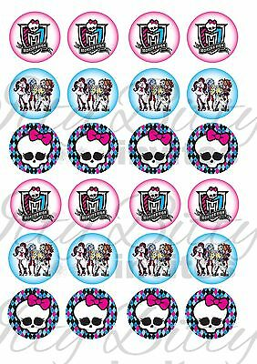 Edible Cake / Cupcake Toppers MONSTER HIGH - Highest Australian Quality
