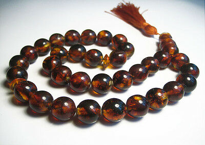 Islamic Prayer Baltic Amber 33 beads 33 g !!!