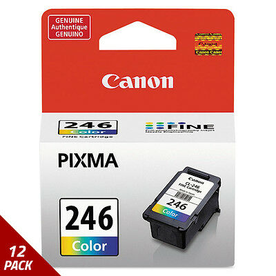Canon 8281B001 (CL-246) ChromaLife100+ Ink Tri-Color [12 PACK