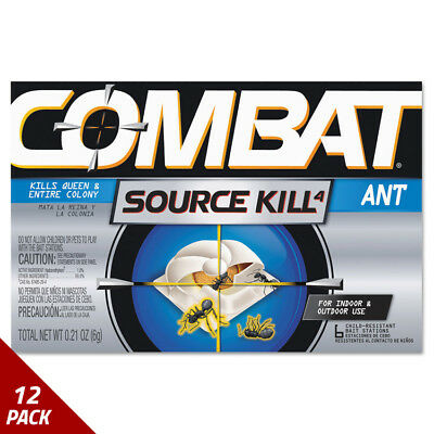 Combat Combat Ant Killing System Child-Resistant Kills Queen&Colony 6ct [12 PACK