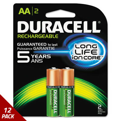 Rechargeable NiMH Batteries AA 2ct [12 PACK