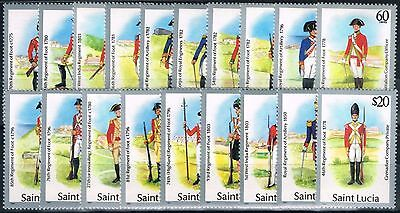 St Lucia 1984-87 Uniforms set of 19 SG928-946 V.F MNH
