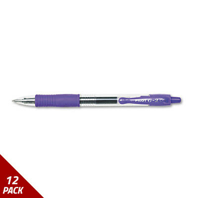 G2 Premium Retractable Gel Ink Pen Refillable Purple Ink .5mm Dozen [12 PACK
