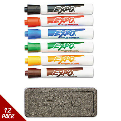EXPO Dry Erase Marker Organizer Chisel Tip Assorted 6/Set [12 PACK