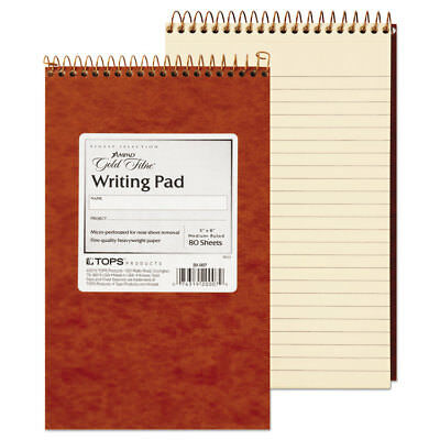 Gold Fibre Retro Wirebound Writing Pad College/Med. 5x8 Ivory 80 Sheets [12 PACK