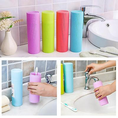 Outdoor Travel Bathroom Toothbrush Toothpaste Holder Cover Case Storage Box Cup