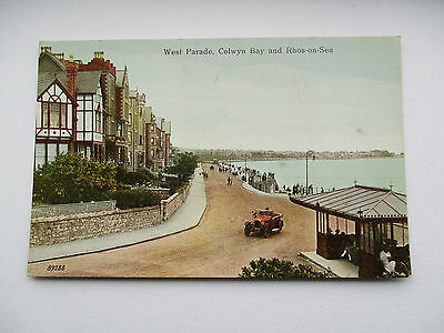 Old Open Top Car - West Parade , Colwyn Bay And Rhos On Sea