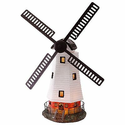 Solar Powered Traditional Windmill Super Bright Ornament Light Garden Decoration