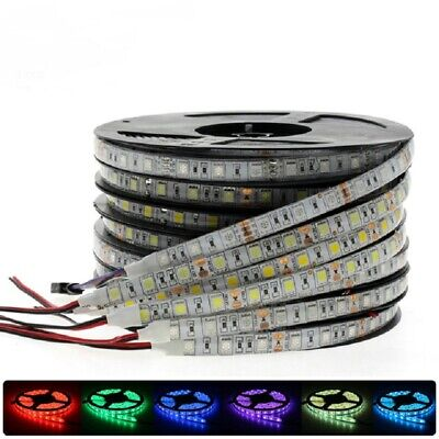 DC12V 1M-5M SMD 5050 RGB white Waterproof 300LED Flexible 3M Tape Strip Light