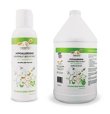 Nourishing Gentle Dog Grooming Shampoo For Sensitive Skin Coconut and Lime Scent