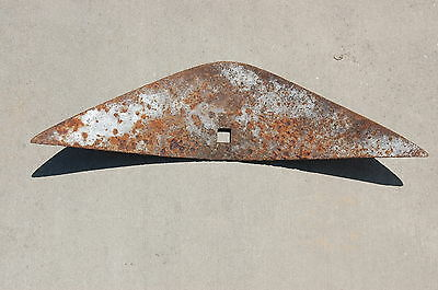 Vintage rusty  Plow Part Head Coultivator Head Farm Tool      #2