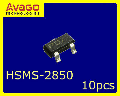 [10 pcs] HP/AVAGO HSMS-2850 Single Zero Bias Schottky Detector Diode