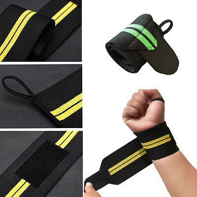 Non-slip Weight Lifting Fitness Gym Sport Wrist Wraps Bandage Hand Support Strap