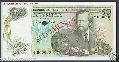 Seychelles 50 Rupees  ND (1976) P21s Specimen Uncirculated