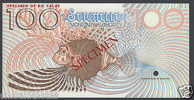 Seychelles 10 Rupees ND (1979-80) P23s Specimen Uncirculated
