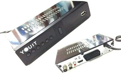 DECODER RICEVITORE DIGITALE TERRESTRE DVB-T2 FULL HD 1080p  USB