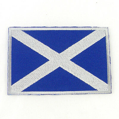 SCOTLAND Nation Flag Logo Embroidered Iron On Patch #PFGSL2