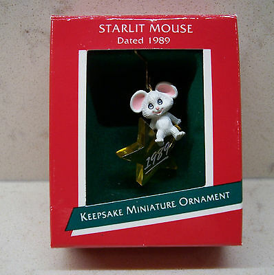 1989 Hallmark Miniature Ornament - Starlit Mouse