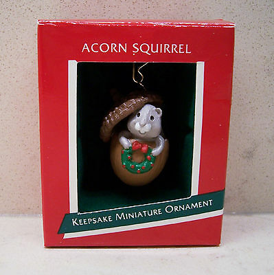 1989 Hallmark Miniature Ornament - Acorn Squirrel