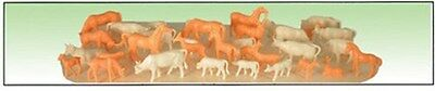 Model Power O Scale Unpainted Animals (36 Pc) New 6171
