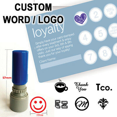 Custom Logo Loyalty card Self inking Stamp for business SHOP BAR CAFE RESTAURANT