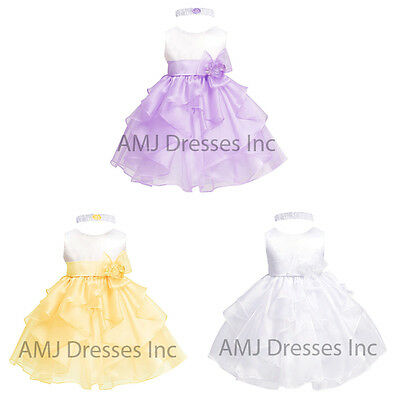 Baby Girls Christening Birthday Party Flower Girl Wedding Easter Dress A1095