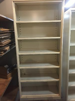 "STEELCASE Metal Bookcases Beige 80"" x 36"" x 15"" Adjustable Shelves LOCAL PICK UP"