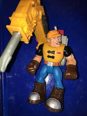Jack Hammer 2000 Rescue Heroes 7764  Construction Worker Action Figure