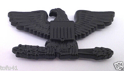 US ARMY COLONEL RANK SUBDUED BLACK Military Veteran Collar Hat Pin P12622 EE