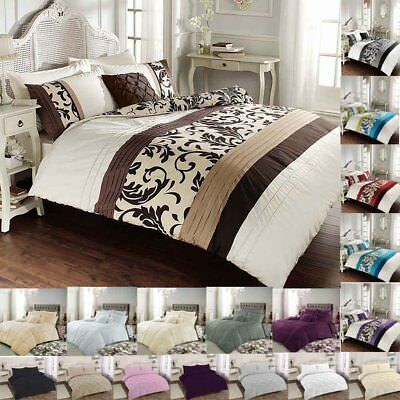 Luxury duvet cover set single double super king  pillowcases polycotton bedding