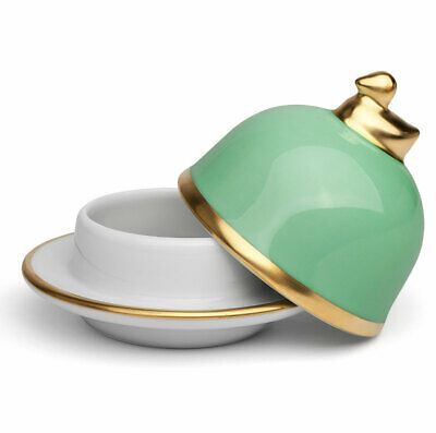 NEW Limoges Legle Water Green Butter Dish