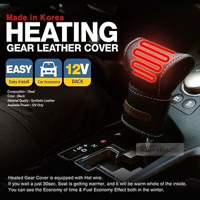 Car Heated Hot Gear Knob Shift Lever Cover Heated Pad 12V USB Cable All Vehicle