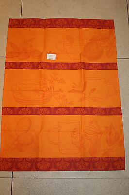 le jacquard francais Kitchen towel Infusion in Mandarin Orange Tag first hand