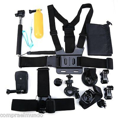 13 in 1 Outdoor Sports Action Camera Accessories Kit for Hero 4 3+ 3 2 S60 S70