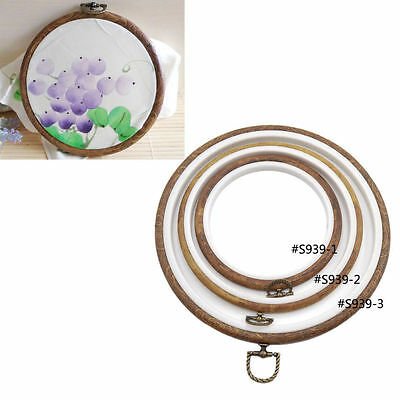 Vintage Embroidery Hoop Wood Frame Rings Sewing Cross Stitch Needlecraft 3 Size