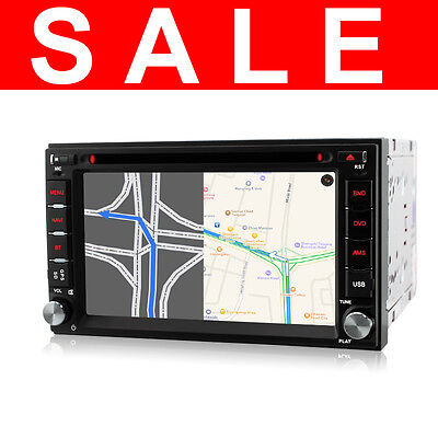 Double 2 Din GPS sat nav DVD Player in-car stereo Bluetooth USB FM Radio