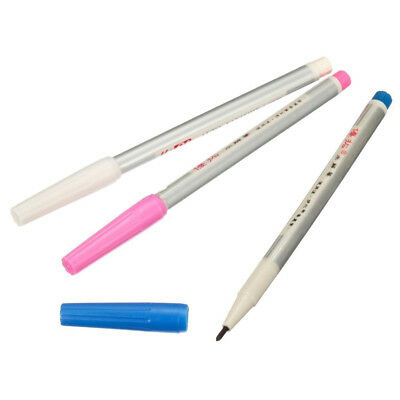 3 Pcs Water Erasable Vanishing Fabric Marker Colth Ink Pen For Sewing Craft Set