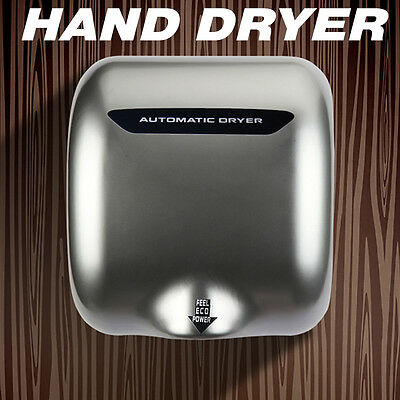 Electric Automatic Hand Dryer Stainless Steel Commercial Restroom Brushles Motor