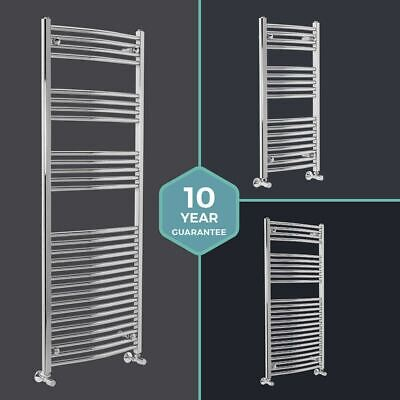 Designer Chrome Curved Bathroom Heated Ladder Towel Rail Rad Radiators ALL SIZES