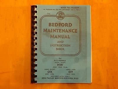 Bedford.MW.OX.OY.Maintenance and Instruction manual.