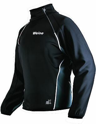 Weise Tex Black Grey Fleece Lined Windproof Long Sleeved Shirt RRP £59.99!