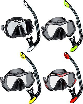 Mares Deluxe Snorkel Set - Silicone Single Lens Mask and Silicone Dry Snorkel