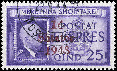 Dt. Bes. II. WK Albanien Nr. 14 gest. (1710005087)