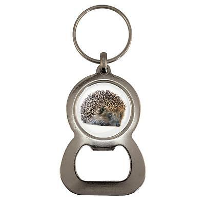 Hedgehog Image Design Metal Bottle Opener Keyring