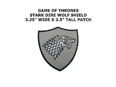House Stark Direwolf Symbol Game of Thrones Embroidered Iron on / Sew on Patch