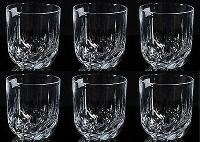Clear Crystal Modern Tumblers Set of 6 - Stunning Glasses Wine or Whiskey 400 ml