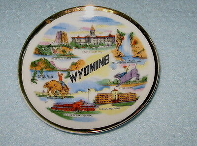 Souvenir Plate  WYOMING  4 INCHES